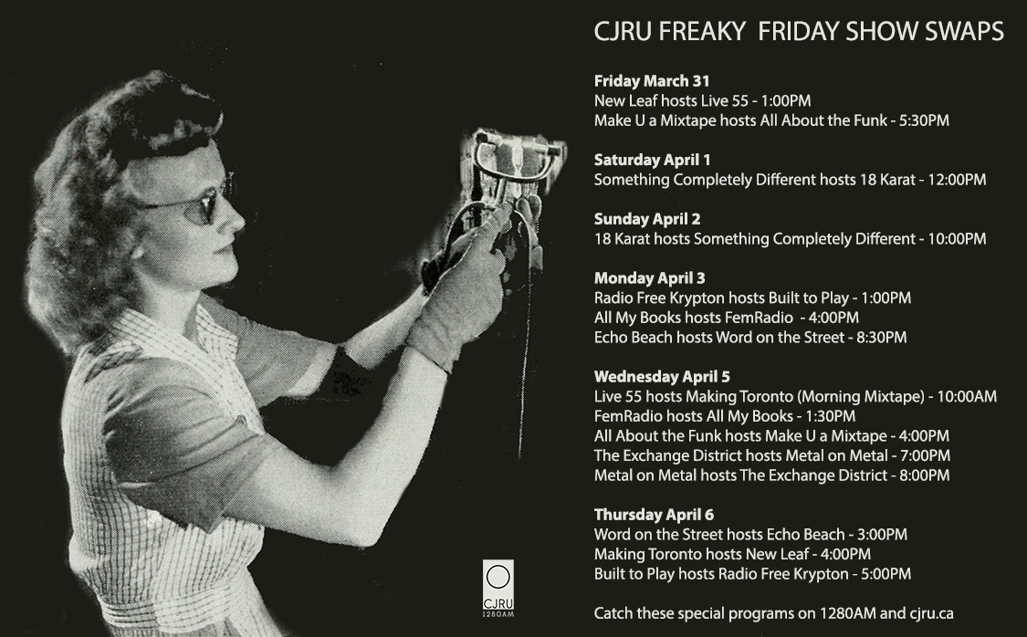"""Featured Image for CJRU """"Freaky Friday"""" Show Swaps courtesy of   