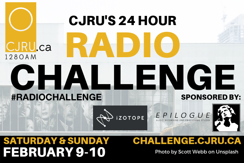 Featured Image for CJRU's 24 Hour Radio Challenge courtesy of   | CJRU