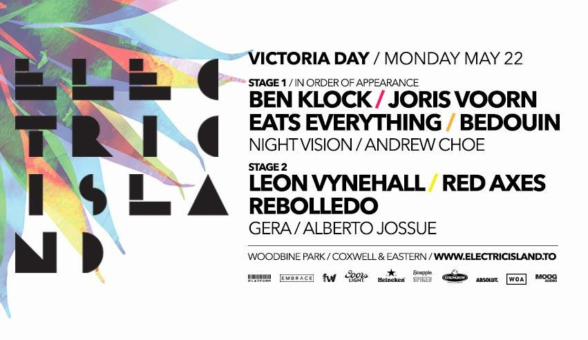 Featured Image for Electric Island Victoria Day 2017 Preview courtesy of   | CJRU