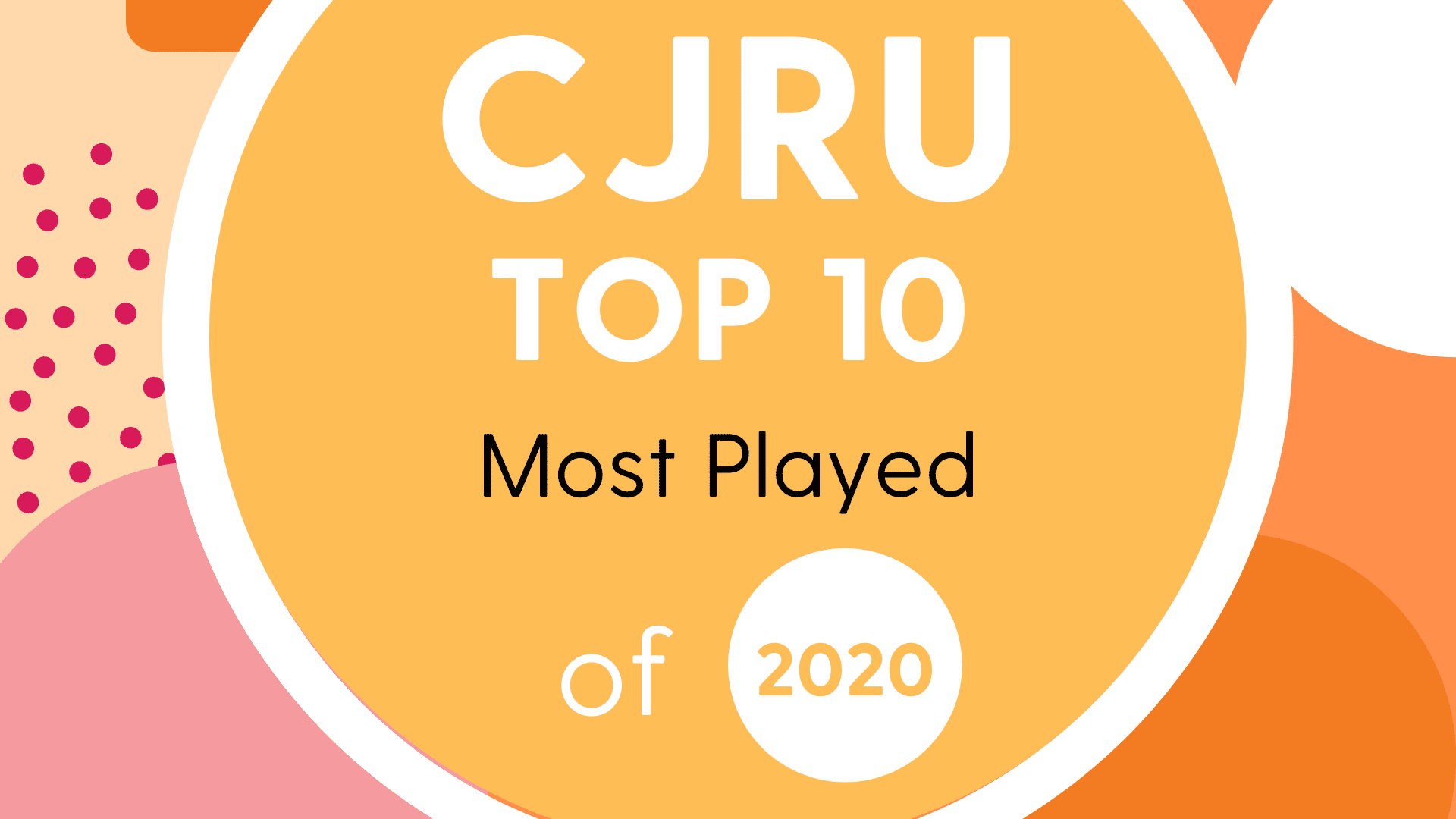 CJRU Top 10 of 2020 Graphic