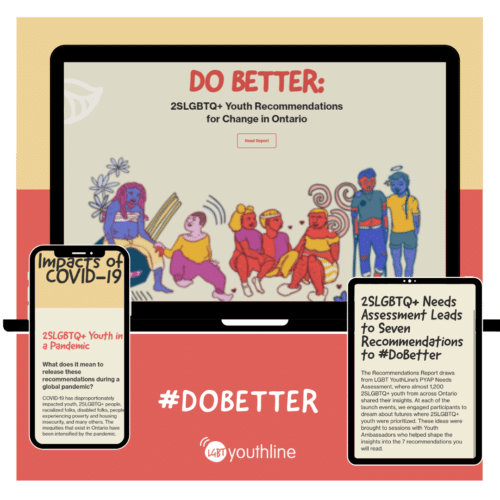 Illustration of phone screen and tablet screen with do better report open.