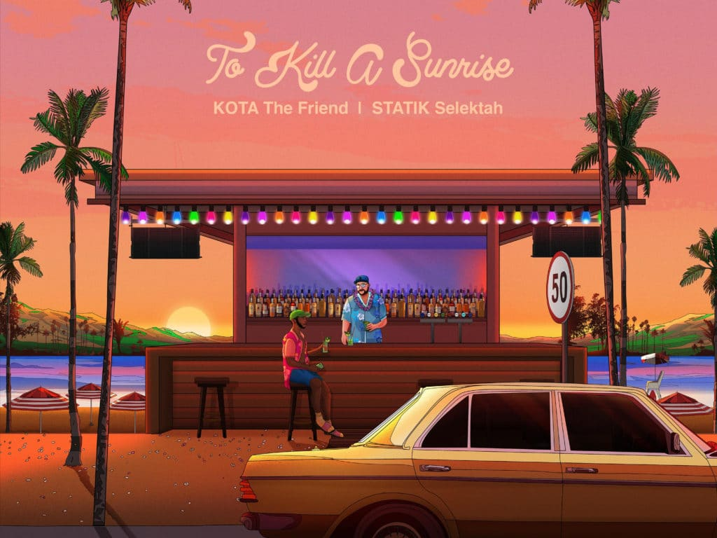 KOTA The Friend & Statik Selektah's album cover to To Kill A Sunrise