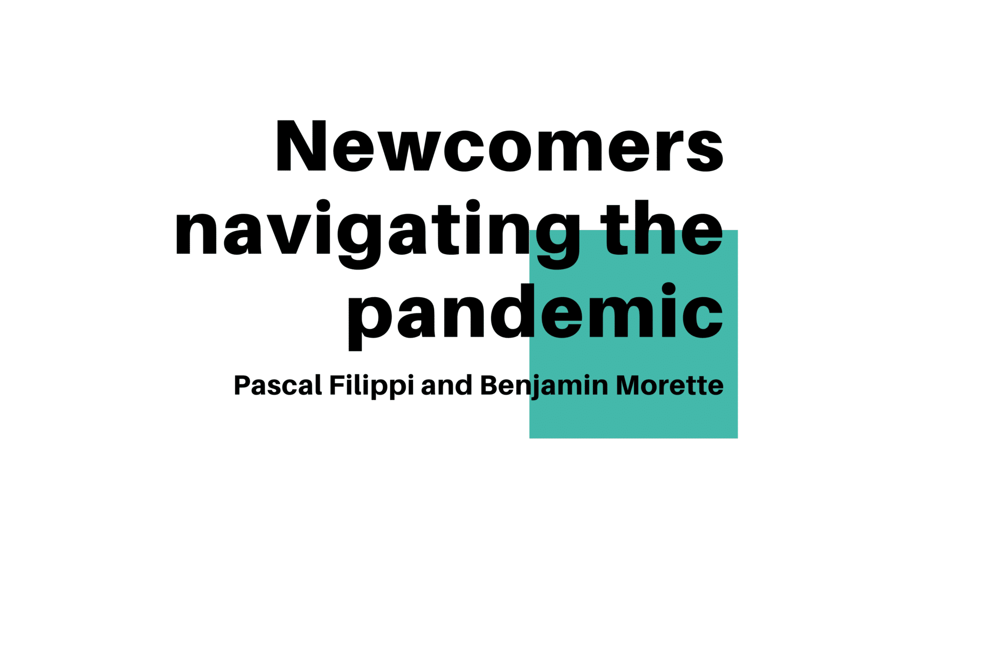 Local Journalism Initiative - Newcomers navigating the pandemic title card