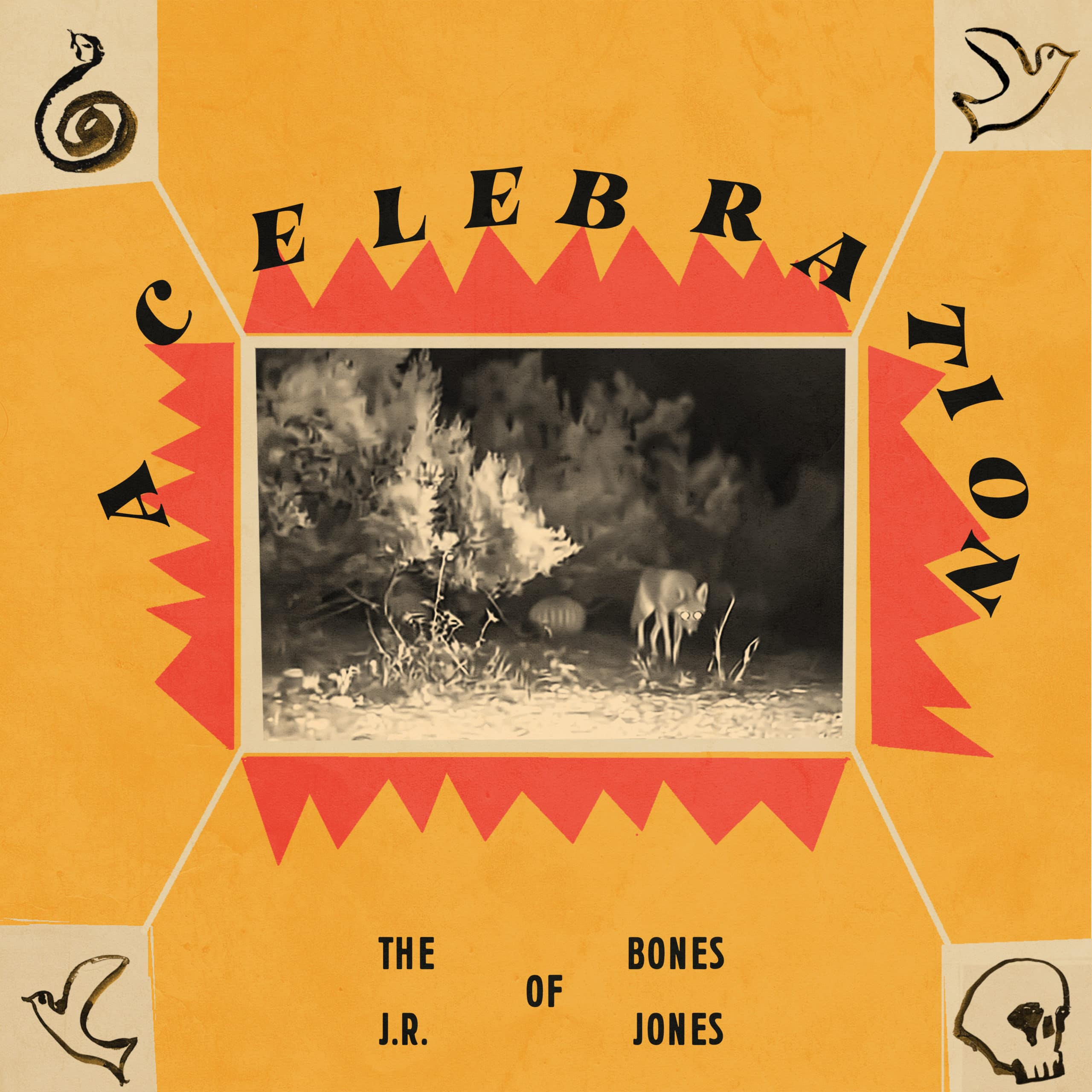 The cover to The Bones of J.R. Jones' EP, A Celebration