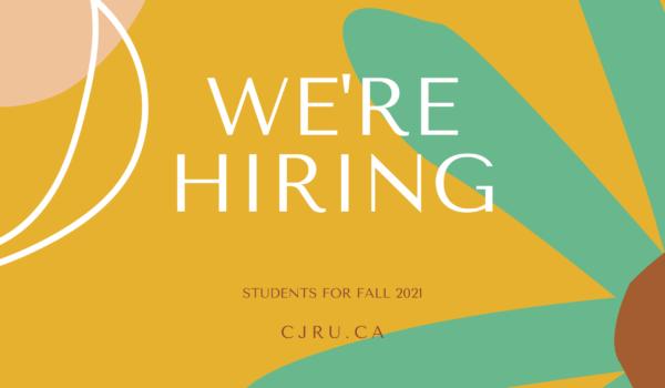 CJRU is hiring